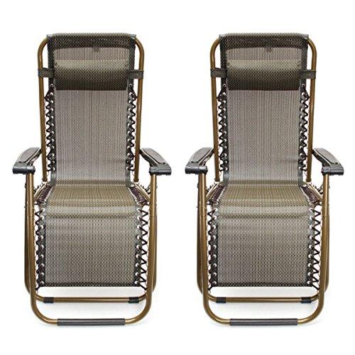Generic YC-UK2-151106-13 t - Tumbona reclinable para jardín, 2 sillas reclinables, reclinables, reclinables y Plegables, 2 Unidades