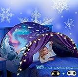 Tienda De Campaña para Cama Infantil Carpa De Ensueño, Carpa para Cama,Carpa Cojin Molon,Carpa para Niños,Carpa para Niños Plegable Mágica De Invierno Navidad Y Regalos De Cumpleaños (Copo de Nieve)