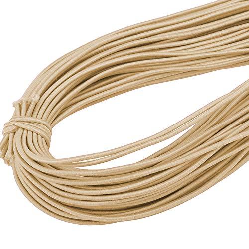 Toruiwa Corde Elastique Tenduer Elastique en Polyester pour Bteaux, Remorques, Bâche 45m (Kaki Clair)