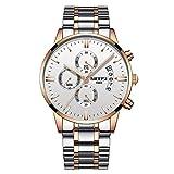 Reloj de pulsera de lujo para hombre, de acero inoxidable, analógico, resistente al agua,...