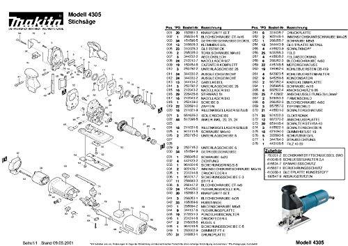 Makita 316883-1-6061 Grundplatte, Original Ersatzteil 4305