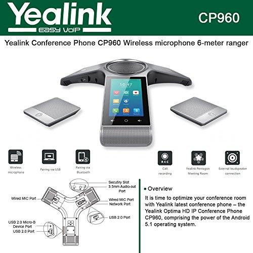 Yealink CP960-WirelessMic IP-Telefon silber