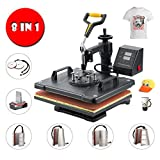 Sfeomi Heat Press 30 x 38cm Multifunctional 8 in 1 Heat Press Machine 360 Degree Swivel Heat Press Machine for...