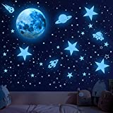 Glowing Stars for Ceiling, 1008 PCS Glow in The Dark Stars,Space Wall Decals...