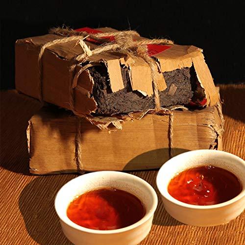 Reifer Pu Er Ziegelstein 250g Ältester Puer Tee Honig Süßer Dul-roter Puerh Tee Schwarzer Tee Pu'er Tee Chinesischer Tee Pu er Tee Reifer Tee Pu-erh Tee Alte Bäume Pu erh Tee gekochter Tee Roter Tee
