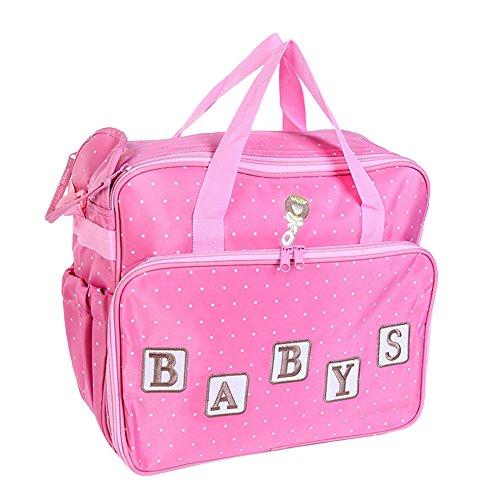 Sac à Langer Multifonctionnel Sac à Couches Sac Momie Fourre-Tout Pink