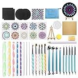 Binchil Mandala Dotting Tools Set for Painting Rocks Pottery Portable Multifunction Embossing Dot Kit Dotting Tool Set 52Pcs