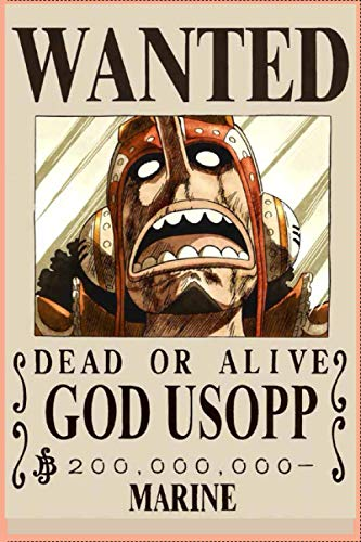 Wanted usopp one piece: Great for Journal - Notebooks Anime Cover