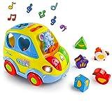 Akokie Coches de Juguetes Juego Interactivo Educativos Montessori con Música Luces Inteligencia Educativa Desarrollo Juguete para Niños 18 Meses