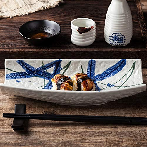 ERCZYO Vajilla japonesa Destacado Hotel Restaurante Creativo Sushi Salmon Disk 10 pulgadas...