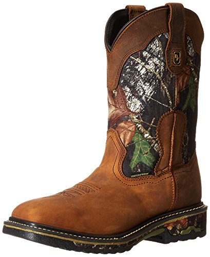 Dan Post Men's Hunter Work Boot, Saddle Tan/Camo, 11 D US