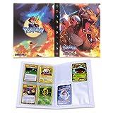 Dorara Tarjeta de Comercio Álbum, GX y EX Cartas Pokemon Álbum, Carpeta Cartas Pokemon, Album Pokemon Puede acomodar 120 Tarjetas Individuales o 240 Tarjetas Dobles (Charizard)
