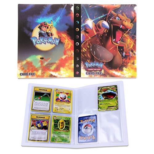Dorara Sammelkarten Album, Album für Pokemon Karten GX und EX, Spielkarte Album Binder, Hält 120 Karten einzeln oder 240 doppelt (Charizard)