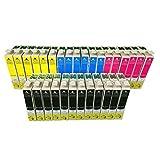 30x E715_2_FR Pack de 30 Cartouches Compatibles pour Imprimante Epson Stylus remplacer T0711 T0712 T0713 T0714 T0715