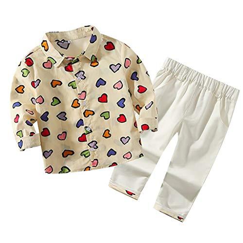 Coversolate Baby Kleidung Klein Gentlement Anzüge Herz Bunte Shirt + Hosen Einfärbig, Sakkos Tops + Hosen Hochzeit Set 6 Monate - 4 Jahre Alt