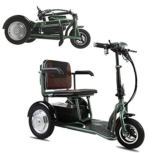 Learn More About HZZD Foldable Electri Wheelchair Three-Wheeled Elderly/Disabled Outdoor Leisure Mob...