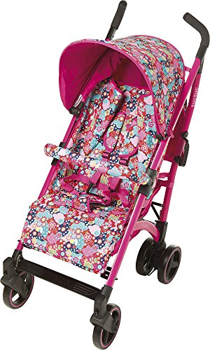 TUC TUC Girls Tuctuc Yupi Buggy Kimono Tuc Tuc The yuppie shine tuck tuck pushchair is designed for maximum comfort for both child and parents. comfortable for the baby because of the big seat and its tilt of up to 150º. Certified: from birth to 15 kg. metal-colored aluminum structure. umbrella-type folding. easily removable dual layer polyester lining. ova protective hood. recline to 150º in four positions using one hand. suspension system in 4 groups of wheels, Easy-access single brake. includes carrying handle. multi-position harness retainer with five anchor points. accessories included: rain cover, basket to carry objects, dual fabric extendible hood with visor. 4