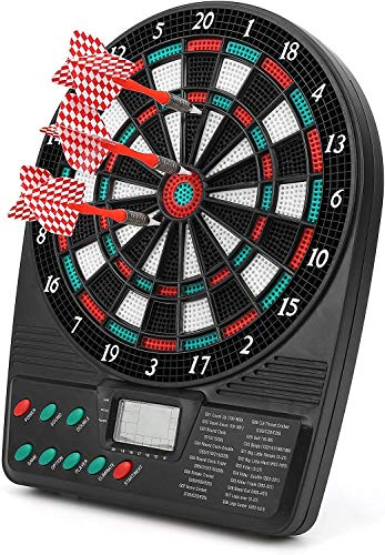 HAITAO Diana con valoración automática, juego electrónico de diana de alto rendimiento para casa al aire libre