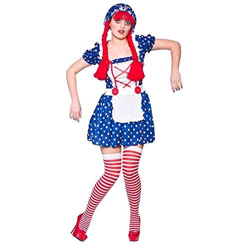 B-Creative Disfraz de Annabelle Zombie para Halloween y niña (muñeca de Rag Raggy, talla M para adultos)