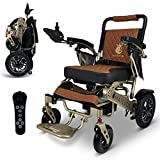 2021 New Limited Edition Remote Control Foldable Electric Wheelchair Mobility Aid Lightweight Motorized Power Wheelchairs (19.5' Wide)