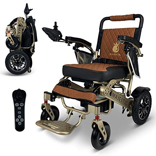 """2021 New Limited Edition Remote Control Foldable Electric Wheelchair Mobility Aid Lightweight Motorized Power Wheelchairs (19.5"""" Wide)"""