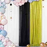 Lime Green Sequin Backdrop Curtain 2FTx7FT 1PC Photo Booth Wedding Props-Sequin Fabric Backdrops Sweets for Weddings Party Curtains Decorations-2FTx7FT (Lime Green)