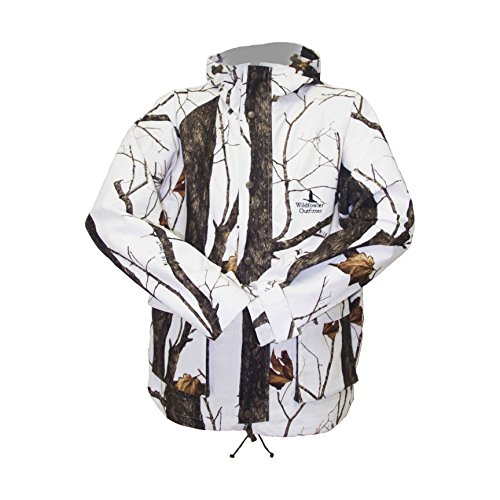 Wildfowler Outfitter Men's Waterproof Parka, Wild Tree Snow, X-Large