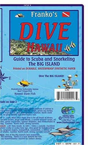 Hawaiian Big Island Dive Map: Tauch- und Schnorchel Freizeitkarte