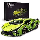 Nifeliz Mini SAI Sports Car MOC Building Blocks and Construction Toy, Adult Collectible Model Cars Set to Build, 1:14 Scale Sports Car Model (1133 Pcs)
