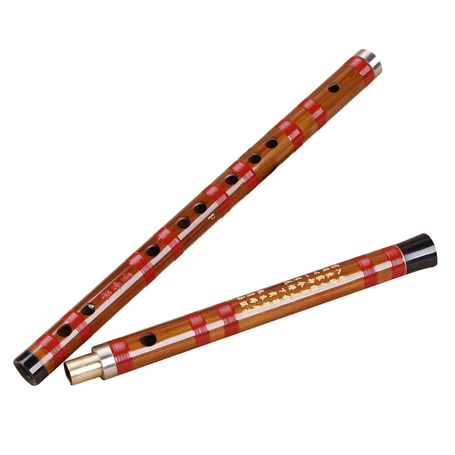 Bamboo flute Flute Beginner Flute CDEFG Five-Tone Professional Playing Flute Wooden Instruments The Best Gift Between Friends and Family Fife (Color : Brown, Size : C key682.62.6cm)