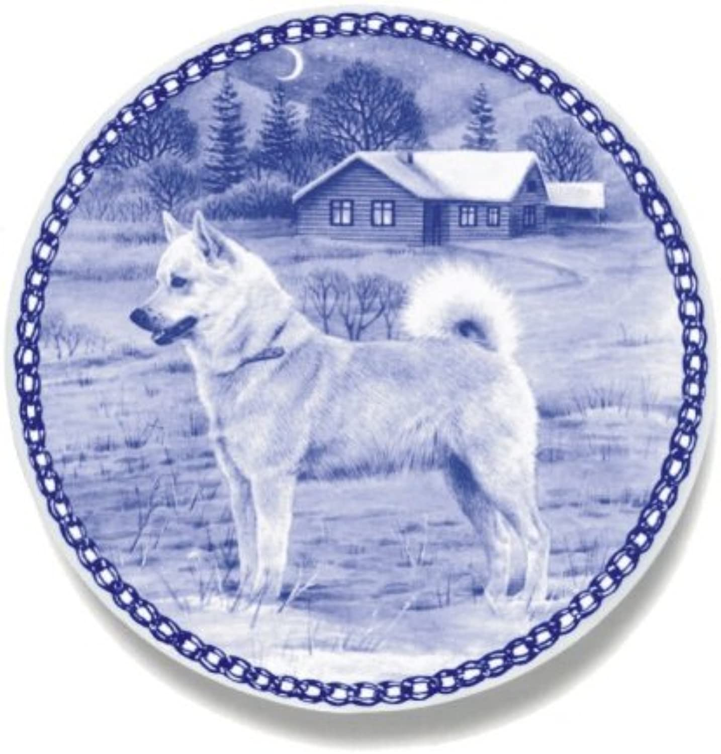 Norwegian Buhund Lekven Design Dog Plate 19.5 cm  7.61 inches Made in Denmark NEW with certificate of origin PLATE  7427