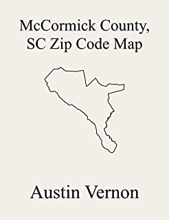 McCormick County, South Carolina Zip Code Map: Includes McCormick, Mount Carmel, and Parksville