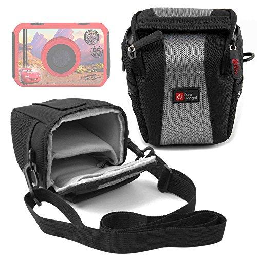 DURAGADGET Funda para cámara de niño Ingo Devices Hello Kitty   Minni   Violetta   Sakar Hello Kitty   con Asa De Hombro Ajustable - Ideal para Viajes/Excursiones