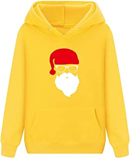 Winter Christmas Hoodies Women Santa Claus Fashion Print 2019 Fleece Costumes Winter Casual Long Sleeve Sweatshirts