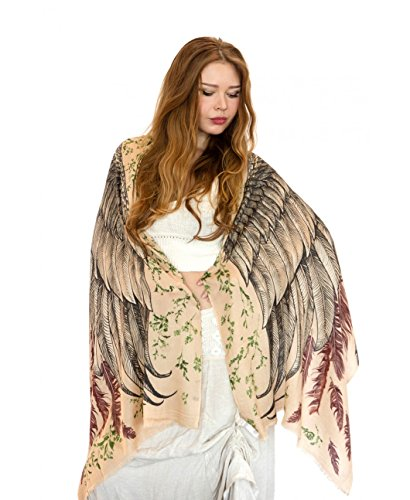 Exquisitely Soft Shovava Women Wings Scarf Silk for those who love birds