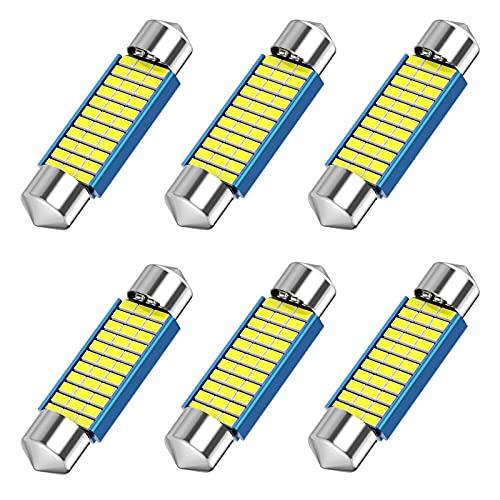 578 Festoon LED Bulb, 42mm 41mm 1.65 Inch Festoon DE3425 DE3423 211-2 LED, 12V 33SMD White Light...