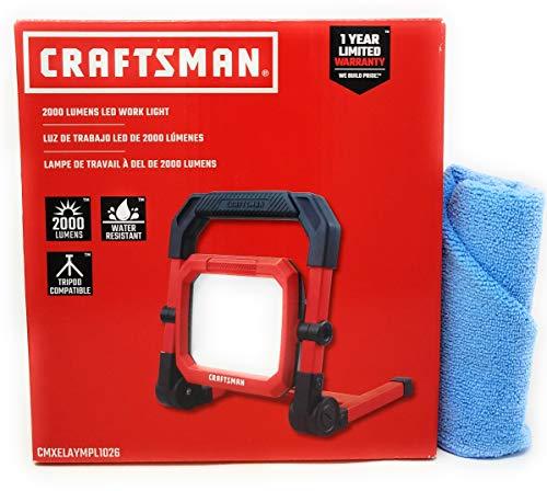 Craftsman LED Portable Work Light, 2000 Lumens and Tesadorz Microfiber Towel