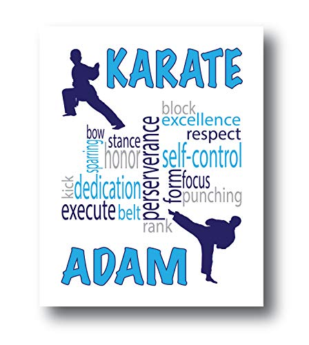 Karate Posters For Boys Bedroom, Choose Colors, Karate Gifts For Men, Karate Room Decor For Boys, Taekwondo Gifts For Boys, Karate Gifts For Boys, Taekwondo Wall Decor, 8x10 or 11x14 Print Only