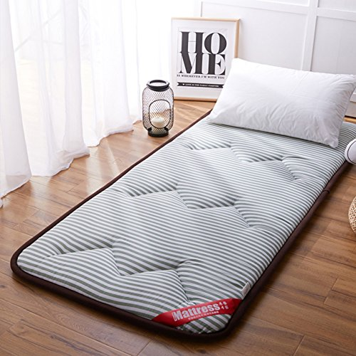 Yellow star Studentenwohnheim futon-matratze Topper,Rollen Feuchtigkeit matratze Anti-rutsch Tatami Boden Matte tragbare schlafen pad Gesteppte Bett Schutz pad-C 90x200cm(35x79inch)