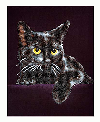 Pracht Creatives Hobby DD5-001 - Diamond Dotz Katze, funkelndes Diamantbild zum Selbstgestalten, ca. 27,9 x 35,5 cm groß, Malen mit Diamanten, neuer und kreativer Basteltrend