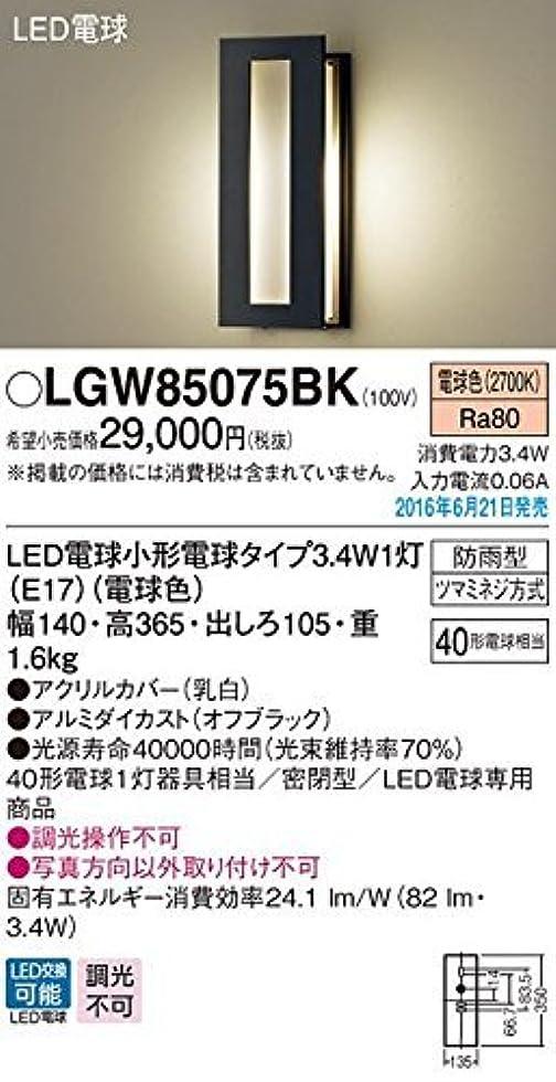 エラーカレンダーマーティフィールディングパナソニック(Panasonic) LEDポーチライト40形電球色LGW85075BK
