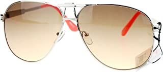 Square Aviator Sunglasses Unisex Fashion Racer Aviators Silver