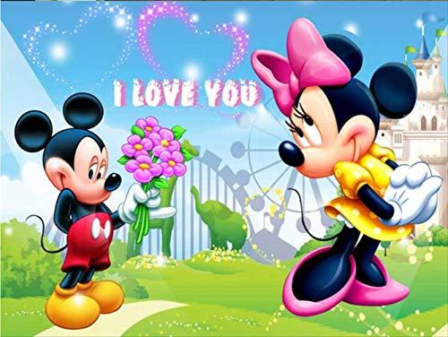 Grand Papier Peint 3d Mickey Mouse Photo Animaux De Bande Dessinée Pour Enfant Chambre D'enfants Décoration Réelle Bébé Revêtement Mural