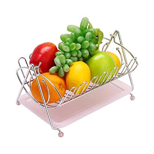 ZfgG Zilveren Swinging Fruit Hangmat Grote Capaciteit RVS Fruitmand Afvoermand 17,5 * 29 * 21cm