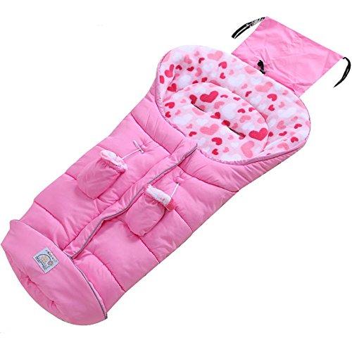 Fairy Baby Kleinkind winterfußsack buggy wintersack für kinderwagen decke baby fusssack maxi cosi, Rosa, 6-36 Monate