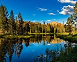 Utah Nature Photography 16x20 Inch Unframed High Definition Nature Art Poster Pass Lake with Reflections of Mountains at Sunset in The Uinta Mountains