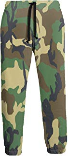 NTQFY Camouflage Green Men's Sweatpants Comfy Jogger Pants with Pockets Lightweight Athletic Pant
