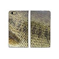 chatte noir iPhone11ProMax ケース 手帳型 おしゃれ ブラックバス バス 魚 模様 ヒレ フィッシング ランカー A シボ加工 高級PUレザー 手帳ケース ベルトなし