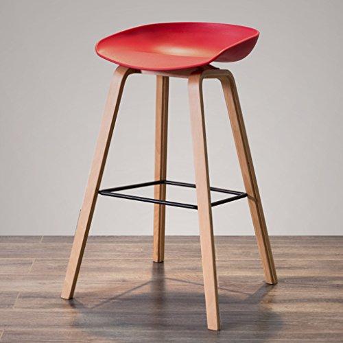Fym Las sillas de la Barra Minimalista del Estilo nórdico Forman sillas de Gama Alta Creativas sillas de Madera Maciza de la Barra (Color : E)