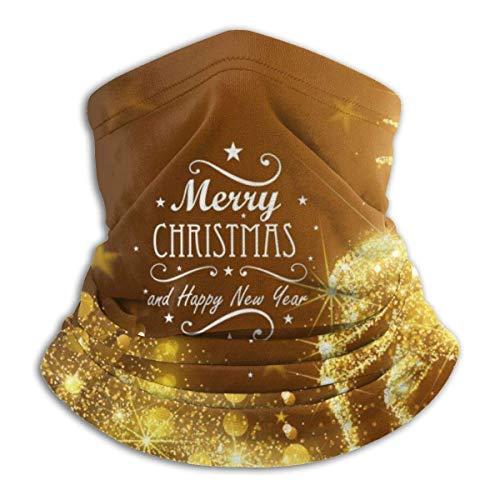 LREFON Pañuelo de Cuello de Alce Dorado de Navidad, pasamontañas más cálido para Hombres, Mujeres, protección contra el Polvo del Viento y el Sol